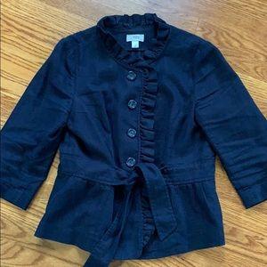 Loft Linen Belted Jacket